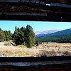 Best view from the inside of the Leadville cabin