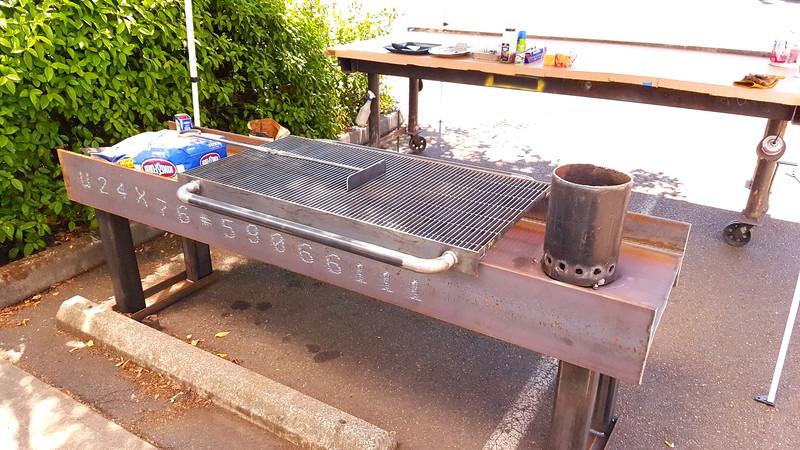 Steel fabricator's BBQ