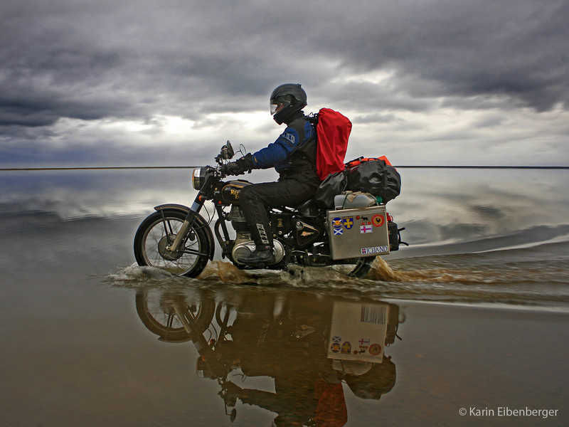 "Iceland on a Royal Enfield by <a href=""http://krian.smugmug.com/"">Karin Eibenberger</a>"
