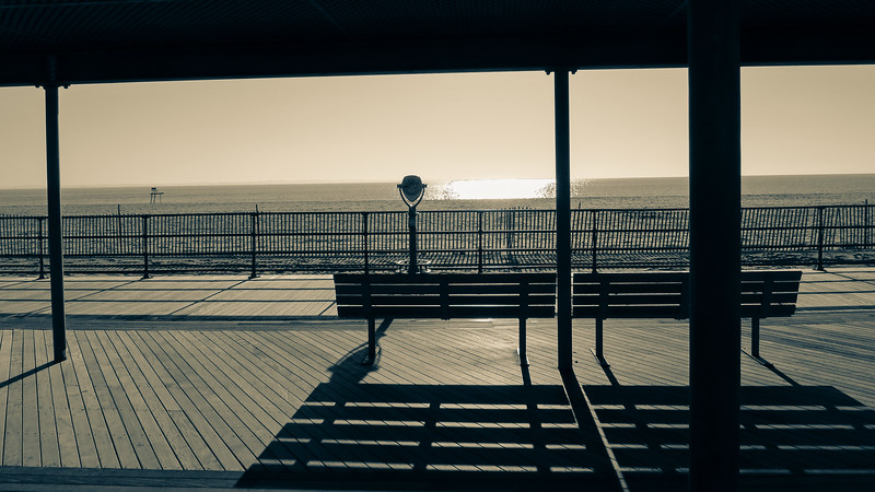 Ocean Beach bench view