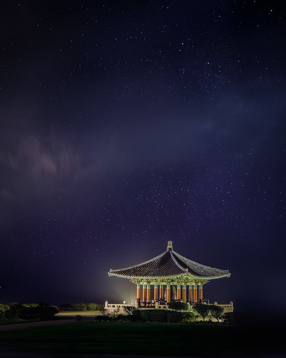 Korean Friendship Bell, San Pedro, night photography