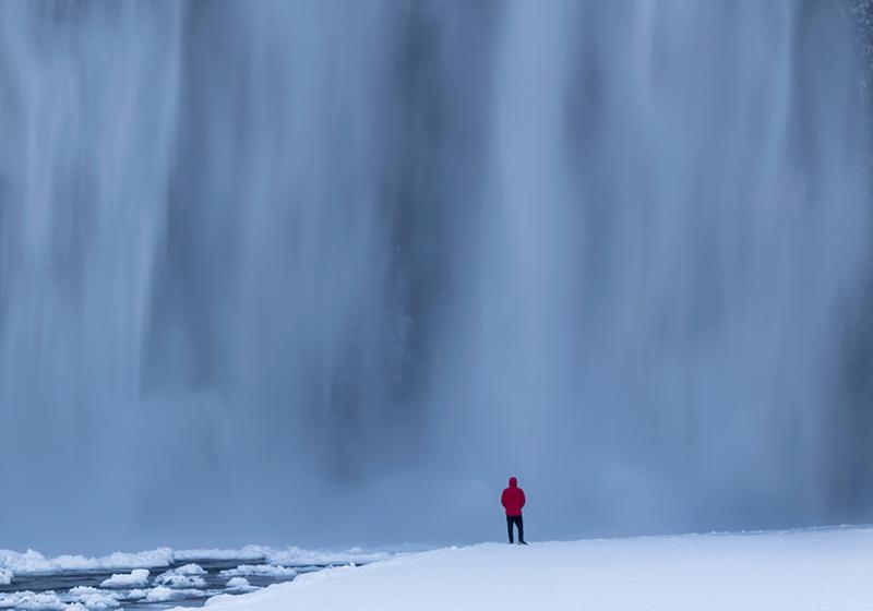 Curtain of Water - Skagafoss Falls, Iceland