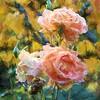 FALL ROSES 2-TOPAZ IMPRESSIONIST IMPASTO II