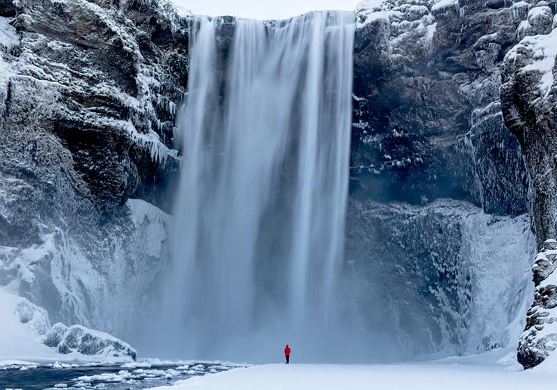Skagafoss Falls Early Morning - Iceland