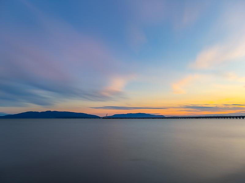 LE 008 Sunset, Squalicum Beach, Bellingham WA