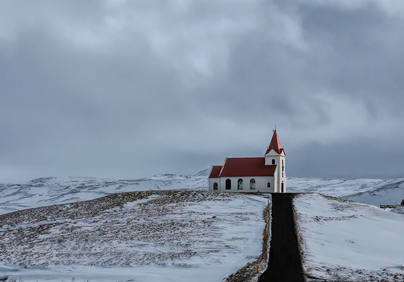 Road to Church - Iceland