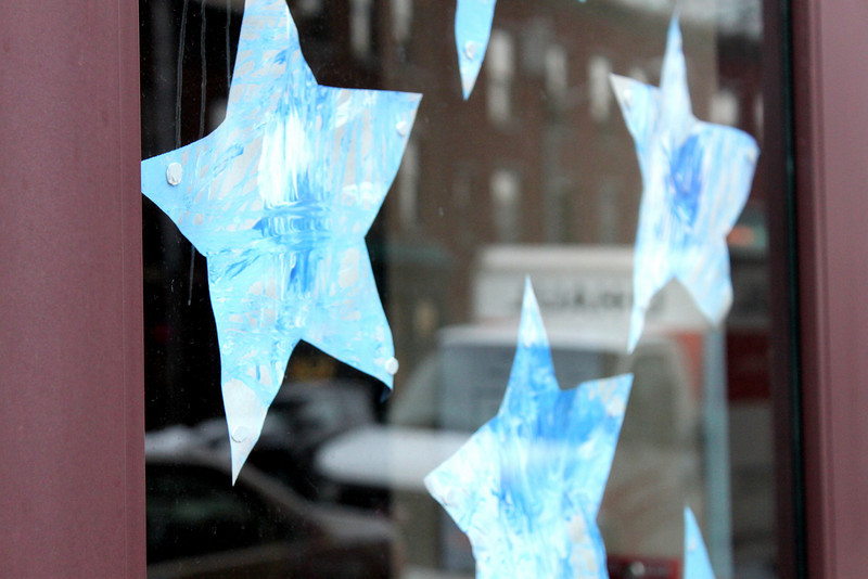 daycare stars and reflections.