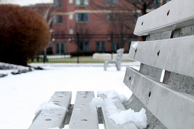 icy bench.