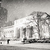 New York City - Snow on a Winter Night - New York Public Library