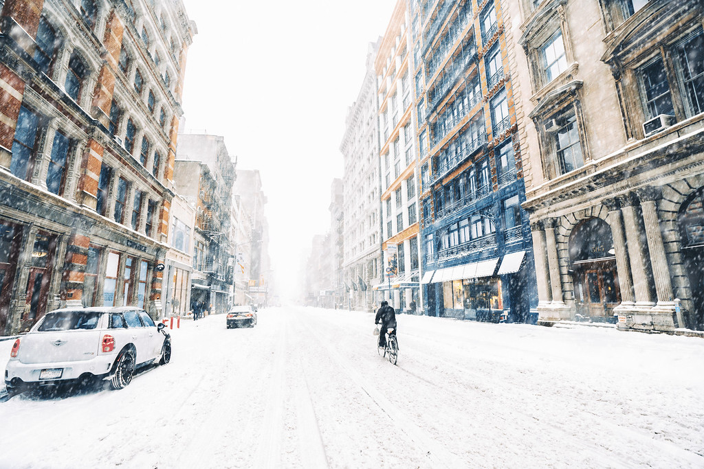 New York City Blizzard - Empty Broadway - Soho