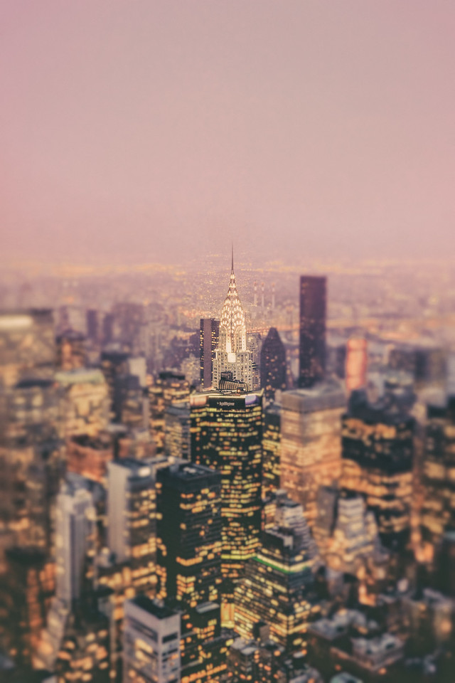 New York City - Skyline with Chrysler Building - Dreamy Cityscape