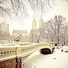 Central Park Winter - Snow at Bow Bridge - New York City