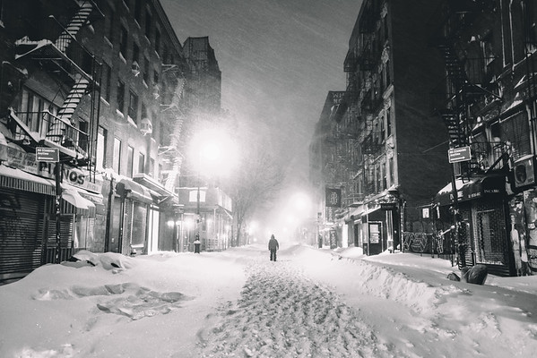 Solitude in a Snowstorm New York City