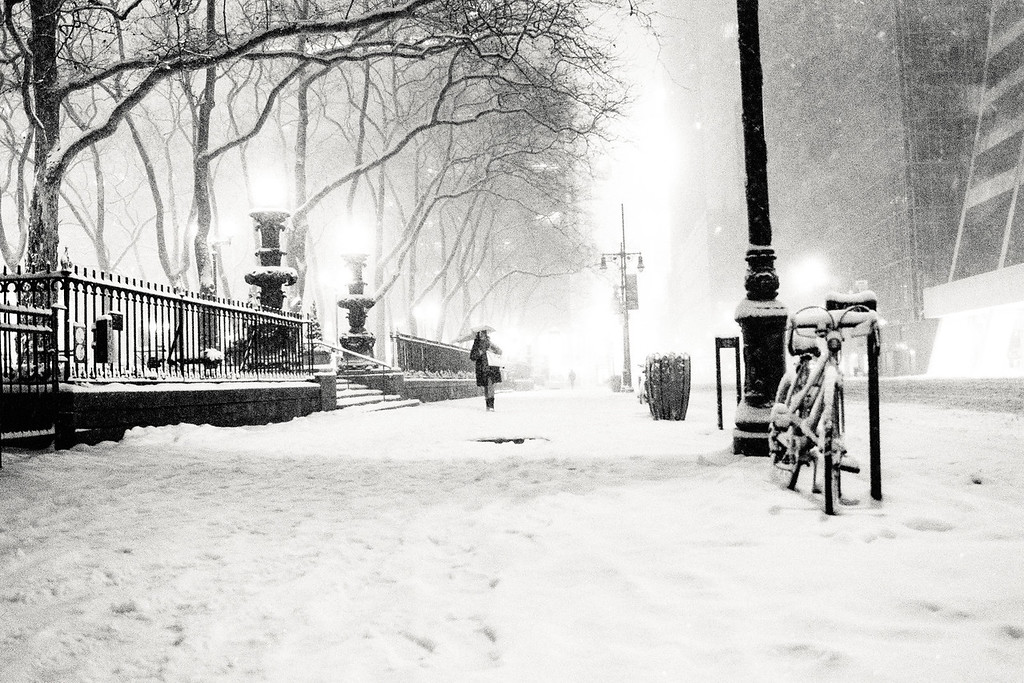New York City - Snow - Bryant Park