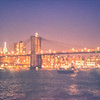 New York City at Night - Brooklyn Bridge and NYC Skyline Lights
