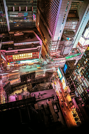 New York City at Night - Times Square from Above