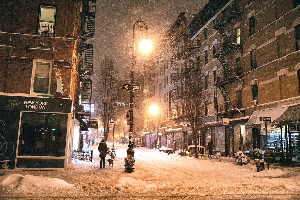 New York City - Snow -  Lower East Side - Ludlow Street