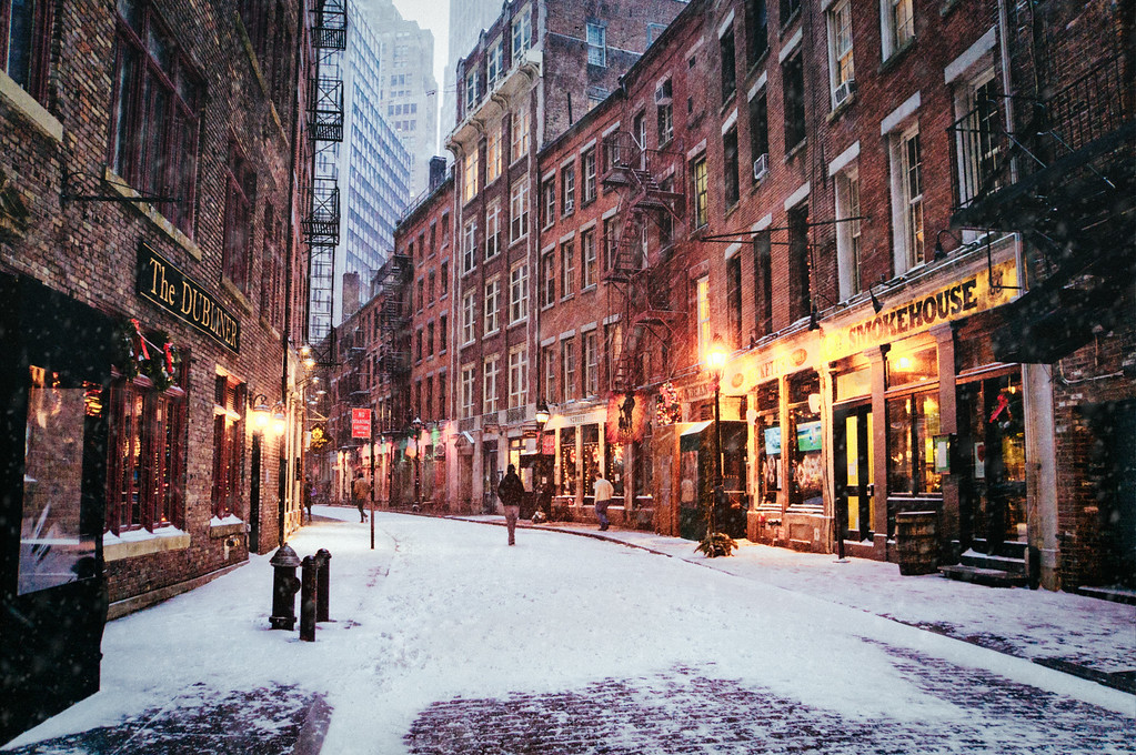 New York City - Snow - Stone Street