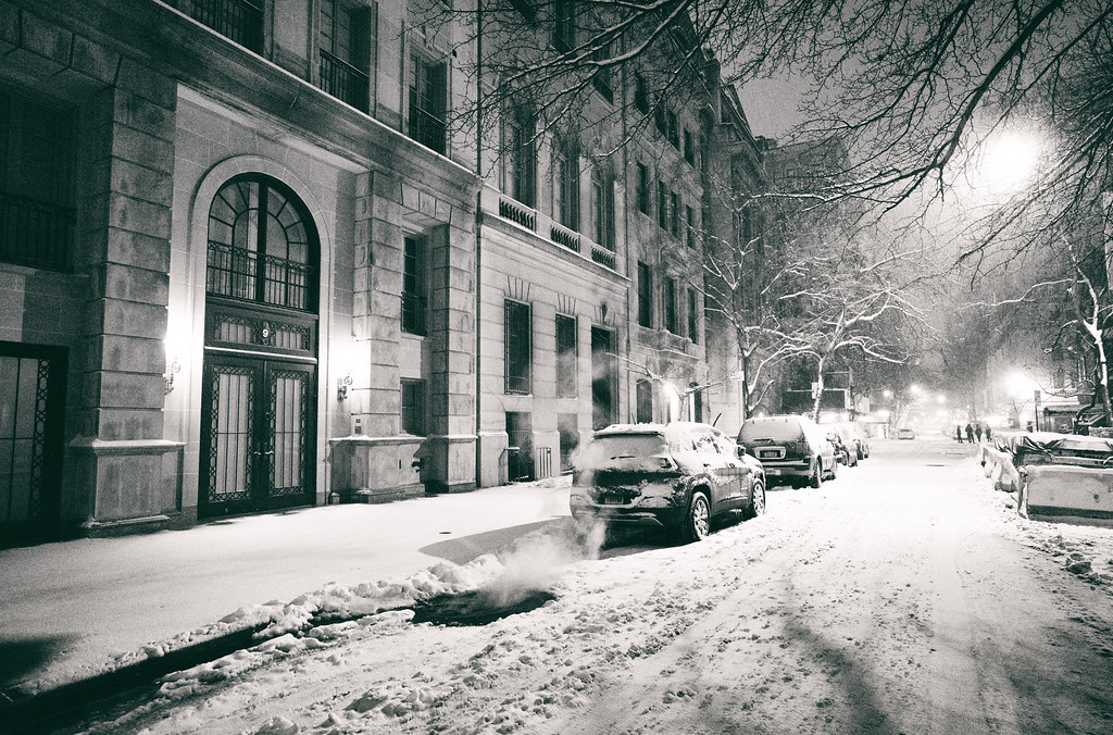 New York City - Snow at Night - Empty Streets