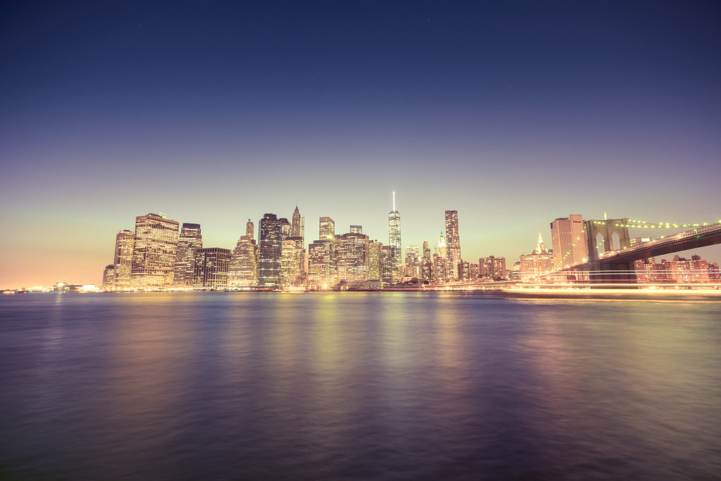 New York City - Night Skyline