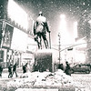 New York City - Times Square at Night in the Snow