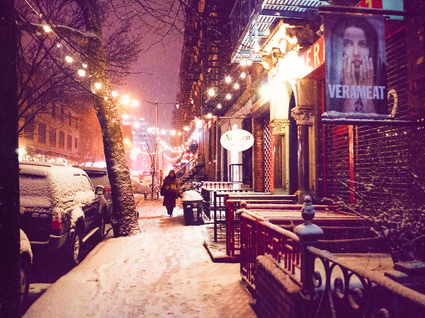 Winter Walk in the Snow - New York City