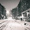 New York City - Snowstorm - Empty St. Mark's Place