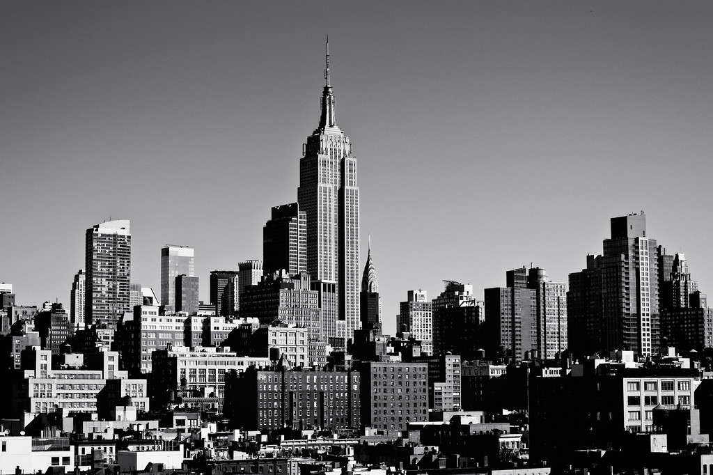 <h2>Timeless - The Empire State Building and the New York City Skyline</h2> - By Vivienne Gucwa  I had the good fortune and pleasure of getting to visit the Google NYC headquarters recently. This particular vantage point is from the outside terrace of their cafeteria. What a view, right? I absolutely love the grandiose scale of the Empire State Building in relation to the Chrysler Building. When viewed side by side, the contrast is enormous.