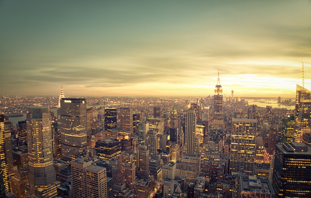 New York Cityscape - Skyline at Sunset