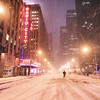 New York City - Snow at Night - Radio City Music Hall