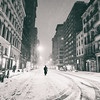 New York City - Snowstorm - Empty Streets at Night