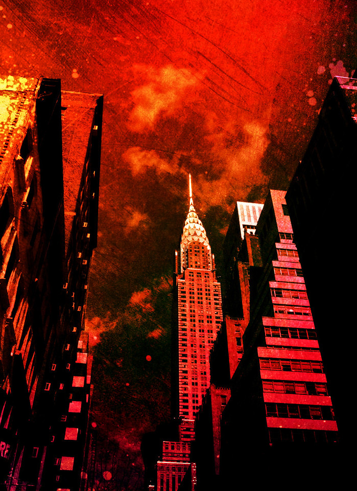 <h2>Monoliths From a Distant Past - Chrysler Building - New York City</h2> - By Vivienne Gucwa<br><br>  We kept pieces of the old cities in place to remind us of a time when we were bound to the earth. <br><br>  Their buildings stood empty yet proud: monoliths constructed in a time when wonder could be extracted from the tiniest of glimpses into an unexplored sky.<br><br>  They stood there: remnants of times when white clouds were all that was plentiful and when our faces replicated themselves temporarily onto their gleaming facades.<br><br>  While the rest of the world pushed forward under red skies dotted with emulsified exhaust, we stopped to take in a view of a distant past.<br><br>  And I scratched our memories into the sky with an old key.<br><br>  ---
