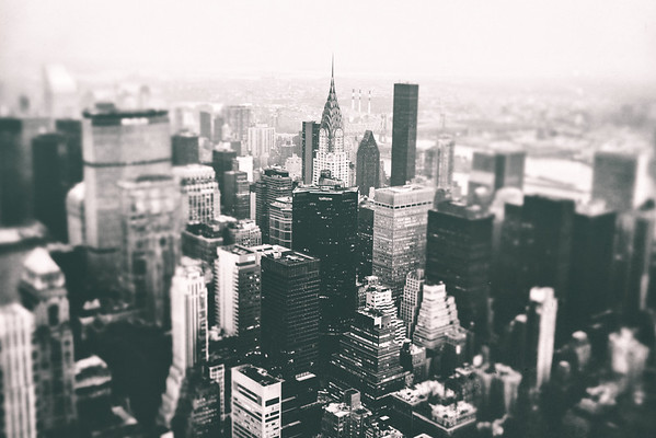 New York City - Chrysler Building and Skyscrapers From Above