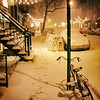 East Village - Snowstorm - Bicycle and Lights - New York City