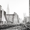 Empire State Building and Abandoned Railroad Tracks - New York City