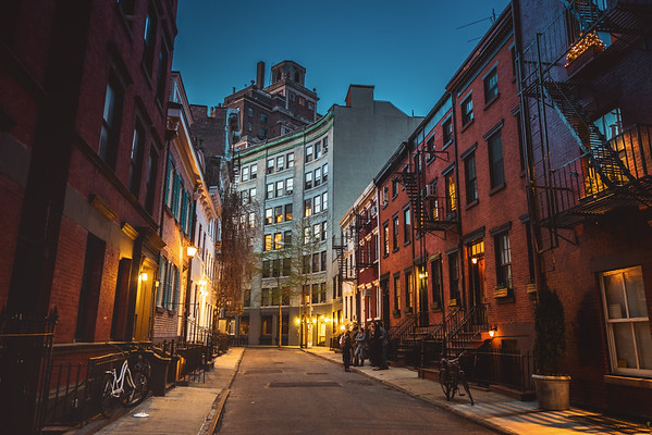 New York City Street at Dusk