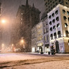 Empty New York City Streets - Winter - Snowstorm
