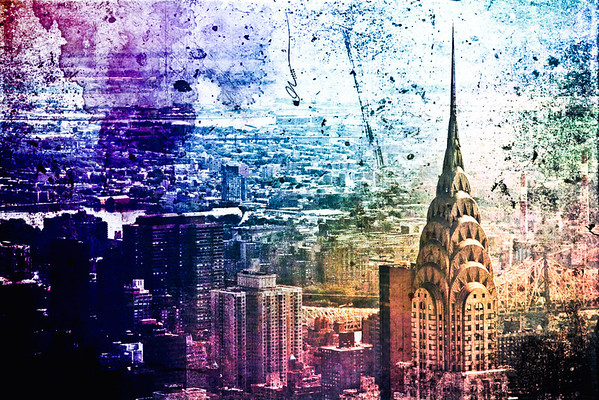 <h2>Painted Memories - The Chrysler Building - New York City</h2> - By Vivienne Gucwa  We looked at old photos of the metropolises we once called home with their towers reaching up to an unexplored sky. These structures stood tall in a universe full of wonder and dust from an infinite number of stars.  And our breath stopped for a moment, caught in our throats as our tears diluted the remnants of paint that had found their way onto these crumbling archaic testaments revealing entire cities beneath the caked, colored surface as if our tears had the power to unearth memories from the recesses of time.  ---