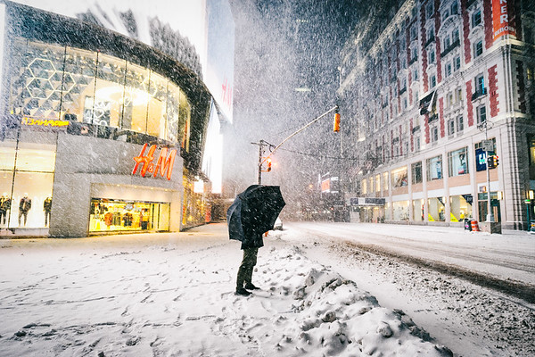 New York City - Times Square - Empty - Snowstorm