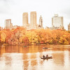 New York City - Autumn - Central Park Skyline and Boats
