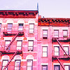 New York City Pink Buildings