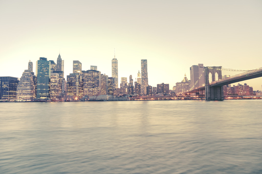 New York City - Dusk Skyline - Lower Manhattan