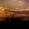 <h2>New York City Skyline Sunset Panorama </h2> - By Vivienne Gucwa  A panorama of the New York City skyline in silhouette at sunset.  To view a larger version of this (to see the details), go here:   http://www.flickr.com/photos/vivnsect/7572009290/in/photostream/lightbox/   ---