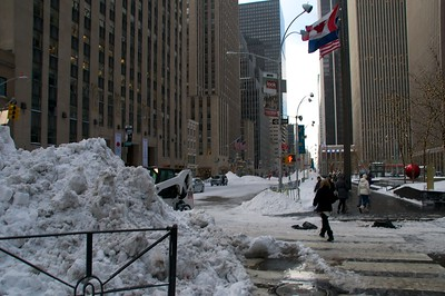 12/27/10 -A blizzard hits New York City hard Dec. 26.  The city was partially paralized after getting over a foot of snow.