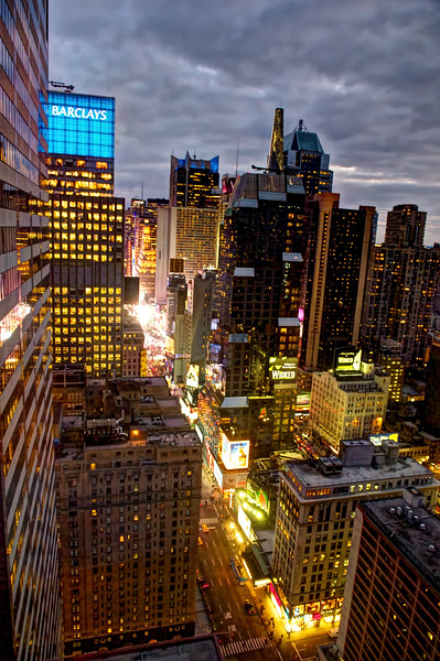 Midtown, Manhattan. View from the Sheraton Hotel on 53rd and 7th. Looking south towards Times Square.