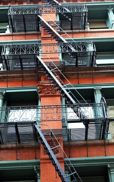 Fire Escapes on Building in NYC