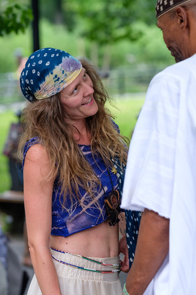 Dancer and Drummer, Central Park Drum Circle, New York City, 8/26/2018