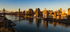 Queensborough Bridge, East River, and Manhattan Skyline from Roosevelt Island, NYC