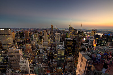 Top Of The Rock. View from the Rockefeller Center, Manhattan. f14.