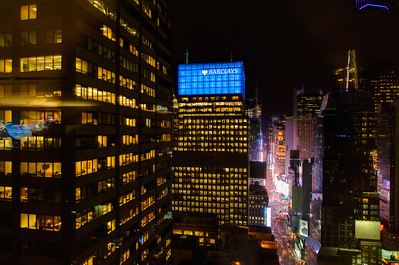 Midtown Manhattan, Times Square. View from the Sheraton Hotel on 53rd Street
